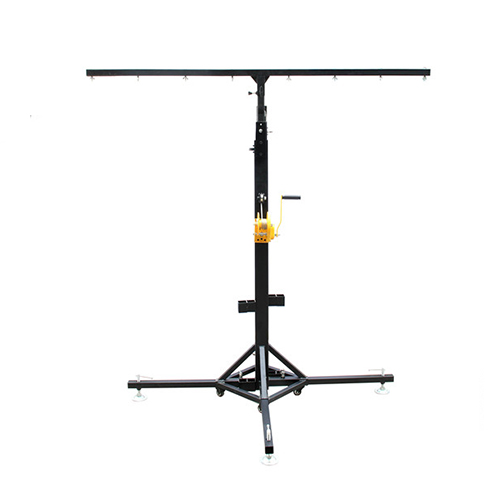 PT011-H4m with wheels single beam light stand